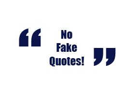 No Fake Quotes Image